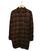 Spick and Span(スピックアンドスパン)の古着「Oversized check shirt」|ブラウン