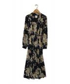 AMeLIE(アメリ)の古着「BLOSSOM PLEATS DRESS」|ネイビー