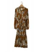 AMeLIE(アメリ)の古着「BLOSSOM PLEATS DRESS」|ブラウン