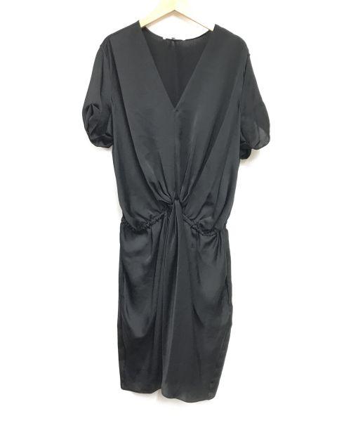 CARVEN(カルヴェン)CARVEN (カルヴェン) ブラウスワンピース ブラック サイズ:Lの古着・服飾アイテム