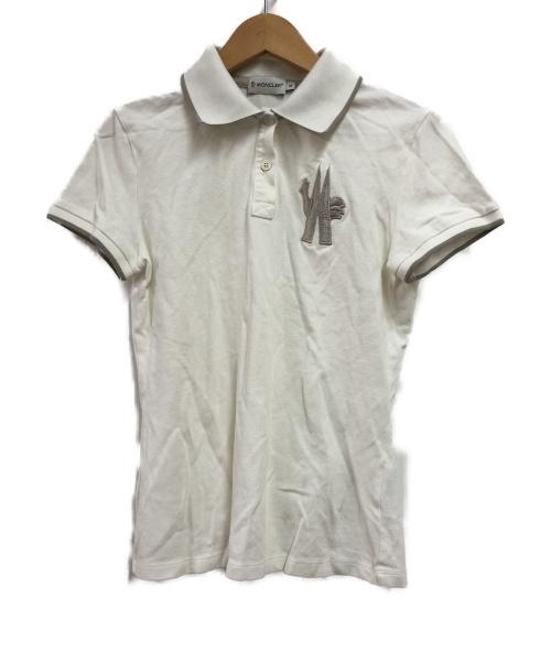 MONCLER(モンクレール)MONCLER (モンクレール) ポロシャツ ホワイト サイズ:Sの古着・服飾アイテム