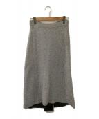 BALENCIAGA(バレンシアガ)の古着「ラメニットスカート」|シルバー