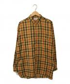 MARKAWARE(マーカウェア)の古着「チェックシャツ」|ベージュ