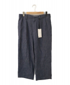 WELLDER(ウェルダー)の古着「Single Forward Pleated Wide Tr」|ブルー