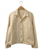 STAMMBAUM(シュタンバウム)の古着「ホワイトデニムジャケット」 ホワイト