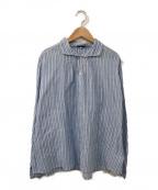 Veritecoeur(ヴェリテクール)の古着「ストライプシャツ」|スカイブルー