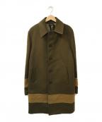 N°21(ヌメロヴェントゥーノ)の古着「ステンカラーウールコート」|オリーブ