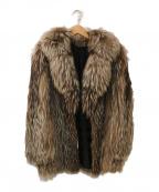 SAGA FOX(サガフォックス)の古着「ファージャケット」|ベージュ