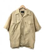 HAVERSACK(ハバーサック)の古着「シルクシャツ」 ベージュ