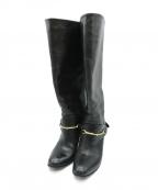 SARTORE(サルトル)の古着「ロングビットブーツ」|ブラック