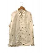 REMI RELIEF(レミレリーフ)の古着「ハワイアン刺繍シャツ」 ホワイト