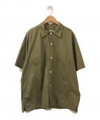 POST OALLS(ポストオーバーオールズ)の古着「ワークシャツ」|オリーブ