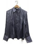 ()の古着「ボウタイサテンシャツ」 パープル