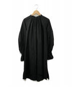 AMERI(アメリ)の古着「タックブラウスワンピース」 ブラック