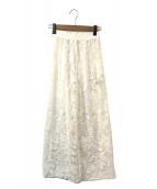 Ameri VINTAGE(アメリビンテージ)の古着「MEDI EMBROIDERY TULLE PANTS」|ホワイト