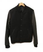 AMERICAN RAG CIE(アメリカンラグシー)の古着「レザー切替スタジャン」|ブラック