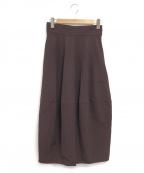 RIM.ARK()の古着「ハイウエストコクーンスカート」|ボルドー