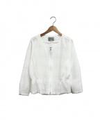 ef-de(エフデ)の古着「レースブルゾン」|ホワイト