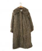 IRENE(アイレネ)の古着「Curly Fur Coat」 グレー