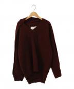 IRENE(アイレネ)の古着「Interlock Knit Top」 レッド