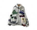 ZARA()の古着「フリースジャケット」 ホワイト