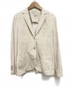 CIRCOLO 1901(チルコロ1901)の古着「ストライプテーラードジャケット」 レッド