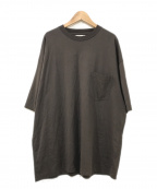 UNFIL(アンフィル)の古着「スビンコットンジャージーポケットTシャツ」|ブラウン