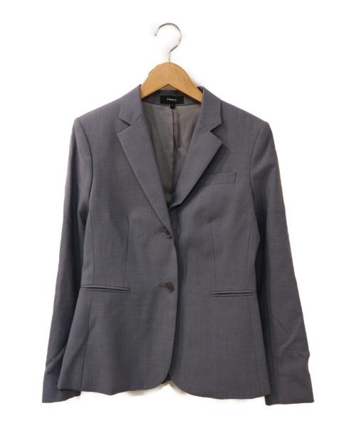 theory(セオリー)theory (セオリー) テーラードジャケット グレー CONTINUOUS/LINWORTH LSの古着・服飾アイテム