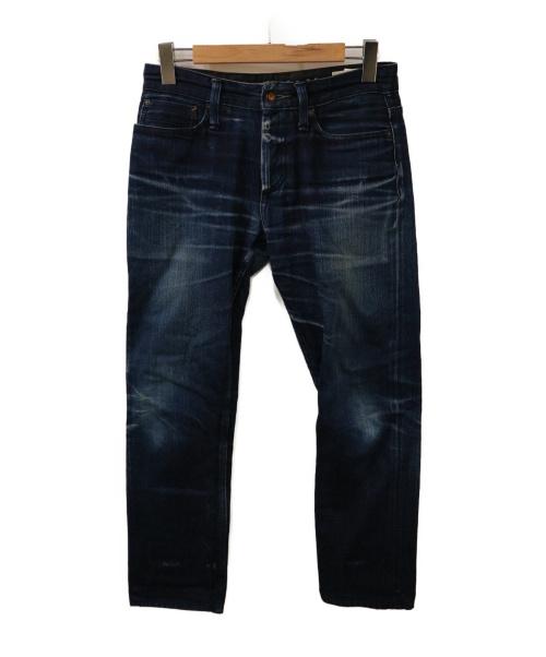 Denham(デンハム)Denham (デンハム) クラッシュ加工デニムパンツ インディゴ サイズ:73.5cm (W29) RAZORの古着・服飾アイテム