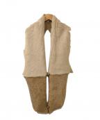 GUSHLOW&COLE(ガシュロウ&コール)の古着「マフラー」|ベージュ