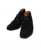 Crockett & Jones(クロケット&ジョーンズ)の古着「スエードチャッカーブーツ」|ブラック