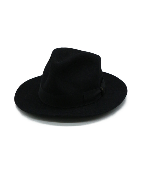 BORSALINO(ボルサリーノ)BORSALINO (ボルサリーノ) ハット ブラックの古着・服飾アイテム