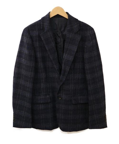 PUBLIC TOKYO(パブリックトウキョウ)PUBLIC TOKYO (パブリックトウキョウ) チェックセットアップスーツ ネイビー サイズ:01の古着・服飾アイテム