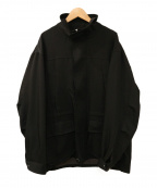 ALLEGE(アレッジ)の古着「ハイネックジャケット」 ブラック