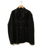 ALLEGE(アレッジ)の古着「Open collar blouson」 ブラック