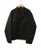 ALLEGE(アレッジ)の古着「ショートフライトジャケット」 ブラック
