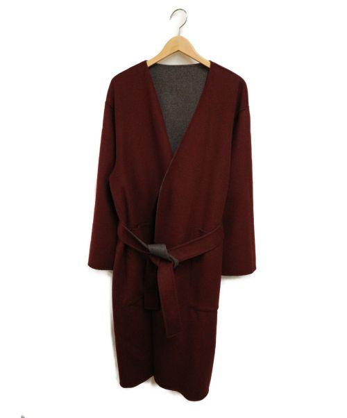 HARE(ハレ)HARE (ハレ) リバーシブルウールコート グレー×ボルドー サイズ:Sの古着・服飾アイテム