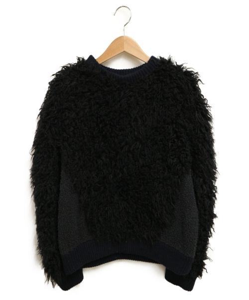 STELLA McCARTNEY(ステラマッカートニー)STELLA McCARTNEY (ステラマッカートニー) シャギーニット ブラック サイズ:36の古着・服飾アイテム