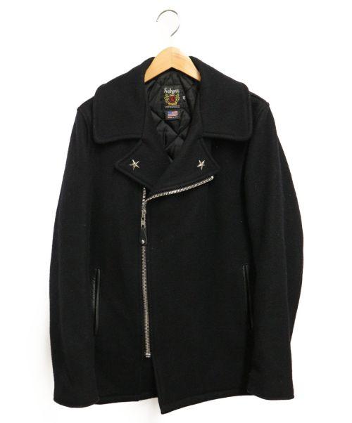 Schott(ショット)Schott (ショット) ウールライダースジャケット ブラック サイズ:40の古着・服飾アイテム