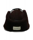 FORSOMEONE(フォーサムワン)の古着「ムートンフライトキャップ」|ブラウン