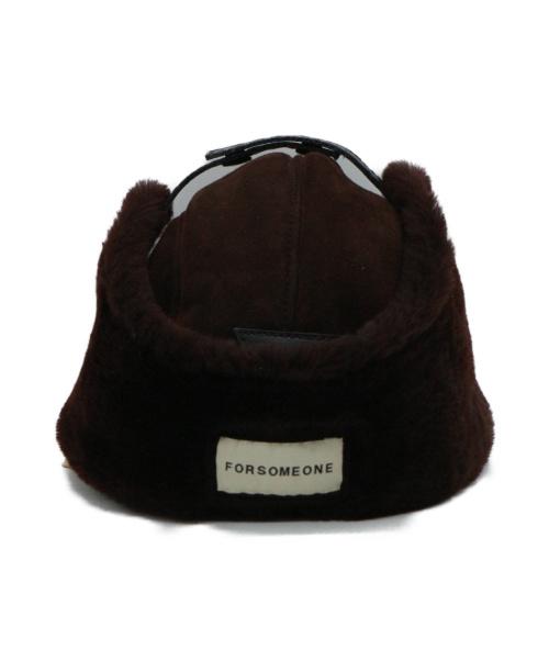 FORSOMEONE(フォーサムワン)FORSOMEONE (フォーサムワン) ムートンフライトキャップ ブラウンの古着・服飾アイテム