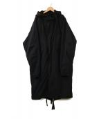 fuu / project(フー プロジェクト)の古着「フーデッドコート」|ネイビー