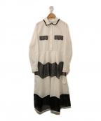 CHESTY(チェスティー)の古着「スカラップシャツワンピース」 ホワイト