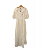 oblekt(オブレクト)の古着「ショートスリーブミリタリーシャツワンピース」|ホワイト