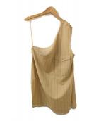 AEWEN MATOPH(イウエンマトフ)の古着「ストライプ ワンショルダー ベスト」|ベージュ
