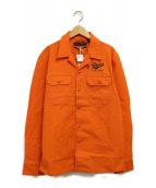 ()の古着「シャツジャケット」|イエロー