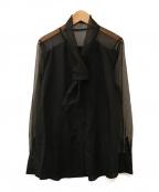 AEWEN MATOPH(イウエン マトフ)の古着「オーガンジー ボウタイ ブラウス」 ブラック