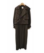AMERI(アメリ)の古着「3WAY SHEER DOCKING COAT」|グレー