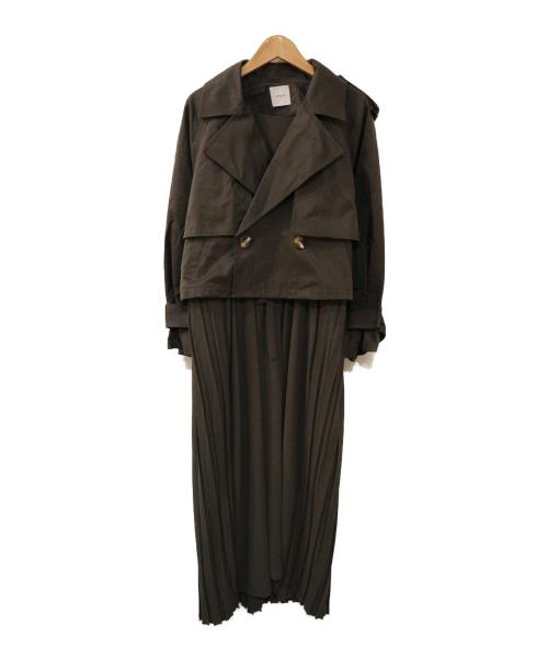 Ameri(アメリ)AMERI (アメリ) 3WAY SHEER DOCKING COAT グレー サイズ:表記なしの古着・服飾アイテム