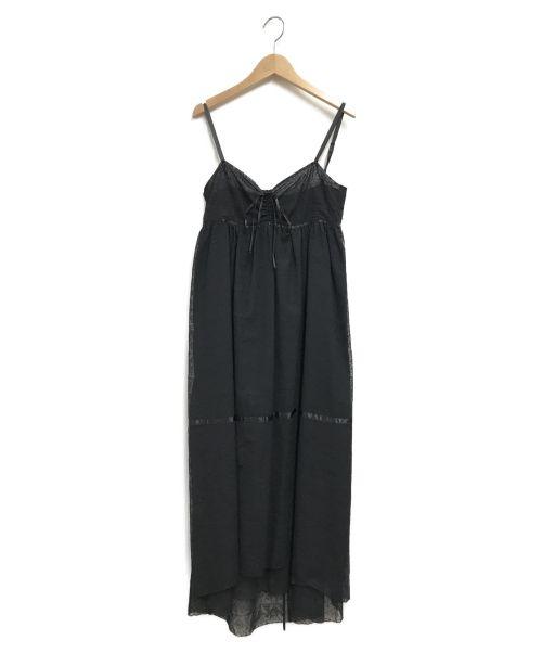 archi(アーキ)archi (アーキ) キャミソールワンピース ブラック サイズ:Sの古着・服飾アイテム